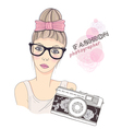 Fashion girl photographer vector | Price: 3 Credits (USD $3)