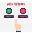 Feedback evaluation concept vector image