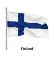 flag republic finland vector image