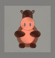 flat shading style icon kids hippo vector image vector image