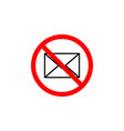 forbidden message icon can be used for web logo vector image vector image