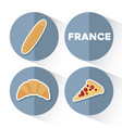 france icon set vector image vector image