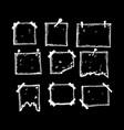 freehand handdrawn frames design vector image