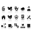 ftp host icons vector image vector image
