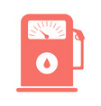 gas station red icon refueling icon for web vector image