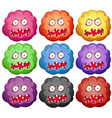 Germ with monster faces vector image