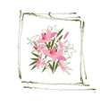 greeting hand-drawn lily floral vector image vector image