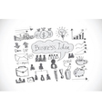 Hand doodle Business icon set idea design vector image