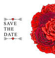 hand drawn rose bouquet save the date vector image vector image
