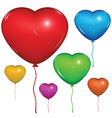 Heart Baloon Color set vector image vector image