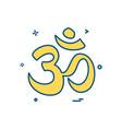 hindu sign icon design vector image