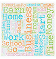How To Choose The Right Work At Home Business text vector image vector image