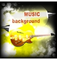 Jazz guitar with lightening and sparks vector image vector image
