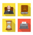 law and lawyer logo set of vector image