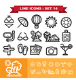 Line icons set 14 vector image vector image