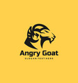 logo angry goat silhouette style vector image