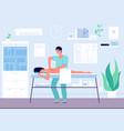 massage concept occupational sport vector image vector image