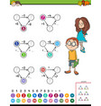maths calculation educational task for kids vector image vector image