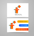 medical card template vector image vector image