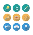 Medical Flat Icons Set With Long Shadow vector image