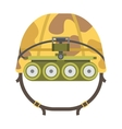Military tactical helmet of rapid reaction army vector image vector image