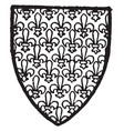 mortimer of norfolk bore gold powdered with vector image vector image