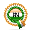 national flag badge IN vector image vector image