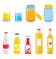 of bottles vector image