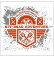 Off-road - grunge emblem and design elements vector image vector image