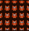 owl stylized art seamless pattern brown orange vector image vector image