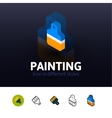 Painting icon in different style vector image