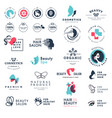 premium quality beauty and nature icons vector image vector image