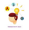 productivity ideas vector image