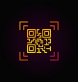 qr code scanning colorful outline icon or vector image vector image