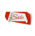 Sale red and white abstract banner vector image vector image