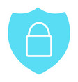 security shield with lock icon minimal pictogram vector image