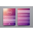 Set of brochure poster design templates in Mardi vector image vector image