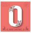 Set of Christmas stylized alphabet and numbers vector image vector image