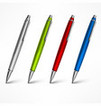 set of expensive pens on white vector image vector image