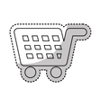 shopping cart commercial icon vector image vector image