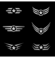 Silver Wings emblem vector image