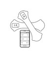 smart dumbbells outline fitness equipment vector image vector image