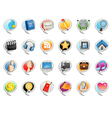 social media bubble icon vector image vector image