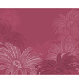 Soft Pink Floral Backdrop vector image vector image