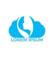 spa and salon logo design vector image vector image