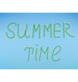 Summer time with flowers and sky vector image vector image