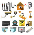 surveillance camera house security screen remote vector image vector image