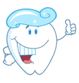 Tooth Cartoon Character With Toothpaste vector image