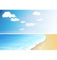 Tropical beach and ocean vector image vector image
