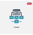 two color sitemap icon from seo web concept vector image vector image